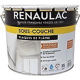 Renaulac Peinture Sous-couche Spéciale plaques de plâtre Blanc 10L - 80m²