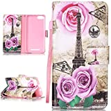 PQ-Mall Coque Pour Wiko Lenny 3,Lenny 3 PU Cuir Etui Housse coque Pour Wiko Lenny 3...