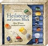 Heilsteine auf einen Blick-Set: Altes Wissen praktisch nutzen - Buch mit 7 Steinen - Flora Peschek-Böhmer