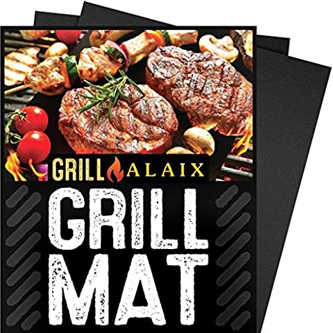 ALAIX BBQ Grill Mat-100% Non-stick,Easy To Wash,Reusable,Perfect for Cooking, Baking and for the Barbecue - Set Of 3 (15.75