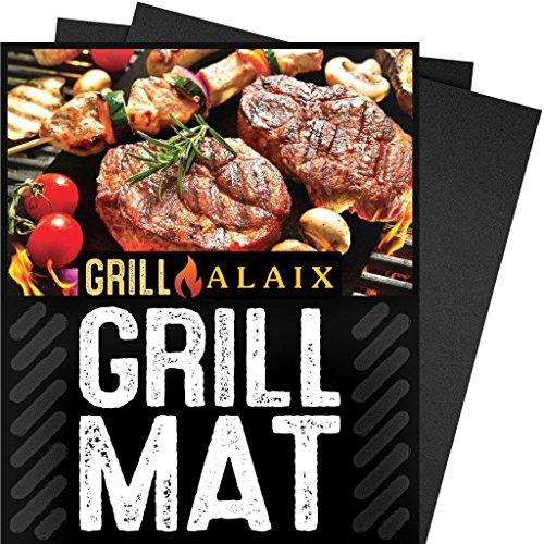 """ALAIX BBQ Grill Matte-101% Non-stick, einfach zu waschen, wiederverwendbare , Perfekt zum Kochen, Backen und für den Grill-Set 2 (15,75 """"x13"""")"""