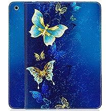 Nuevo iPad 2017iPad 9.7inch caso, A-BEAUTY pintura patrón plegable Folio magnético libro casos con tarjeta de Crédito y Función de Atril funda para tablet