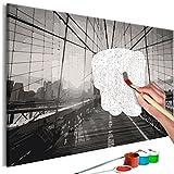 murando - Malen nach Zahlen Brooklyn-Brücke 60x40cm Malset DIY n-A-0559-d-a