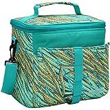 MIER 12 aislamiento puede comer más fresco bolsas de mano térmica Cool Bag para hombres, mujeres, niñas, niños