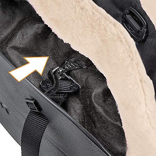 Imagen para Ferplast Bolso para Perros with-ME Winter, EVA, Suave plástico de Goma con Revestimiento de ecopiel, Asas Regulables, Correa de Seguridad incluida, 21,5 x 43,5 x h 27 cm Negro