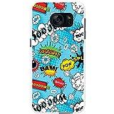 Comic-Aktionen Blau Splash Boom Crash Hartschalenhülle Telefonhülle zum Aufstecken für Samsung Galaxy S7 Edge (G935F, 2016 Version)