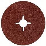 Bosch-fibre Disque abrasif pour meuleuse d'angle 115 mm-Corindon 2608605467 22 mm 80 mm (Lot de 1)