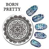 Born Pretty 5.5cm Runde Nagel Kunst Stempel Schablone Arabeskendesign Stamping Plate BP-92