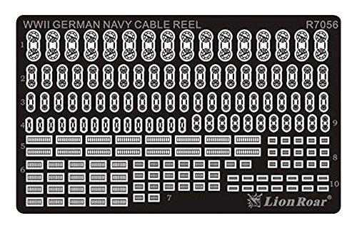 Lion Roar r7056-Fotográfico ätzteil WWII German Navy Cable Reels, Varios Juguetes