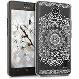 kwmobile Elegante y ligera funda Crystal Case Diseño flor para Huawei Y635 en blanco transparente