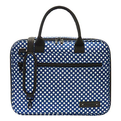 Beaumont BCB-BP Taschen für Klarinette/Oboe blaues punktmuster