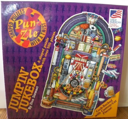 Jumpin' Jukebox Puzzle a Shaped Punzle By Don Stewart by Great American Puzzle Factory