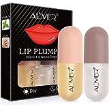 Lip Plumper Gloss Filler per labbra naturale, set di filler Contiene lucidalabbra diurno e notturno - Ottimizzatore di lucida