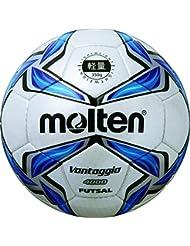 Molten ballon de football pour foot en salle blanc/bleu/argent - 4/f9V4000–l
