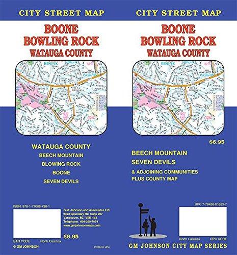 Boone / Blowing Rock / Watauga County, North Carolina Street Map