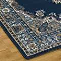 Lancaster Traditional Rugs in Navy - inexpensive UK light store.