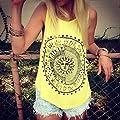 Bellelove Damen-Mandala-Druck ärmelloses Neckholder Tank Crop Tops Weste Bluse T-Shirt from Bellelove