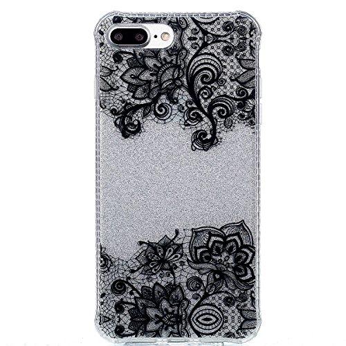 Voguecase® für Apple iPhone 7 Plus 5.5 hülle, Schutzhülle / Case / Cover / Hülle / TPU Gel Skin (Rot Fuchs 02) + Gratis Universal Eingabestift Lace Blume 08