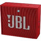 JBL Go Ultra Wireless Bluetooth Lautsprecher (3,5 mm AUX-Eingang, geeignet für Apple iOS und Android Smartphones, Tablets und MP3 geräten) rot