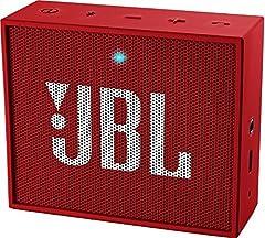 Idea Regalo - JBL GO Diffusore Bluetooth Portatile, Ricaricabile, Ingresso Aux-In, Vivavoce, Compatibilità Smartphone/Tablet e Dispositivi MP3, Rosso