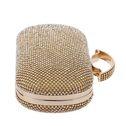 Eysee, Poschette giorno donna Oro nero 23cm*9.5cm*6cm oro