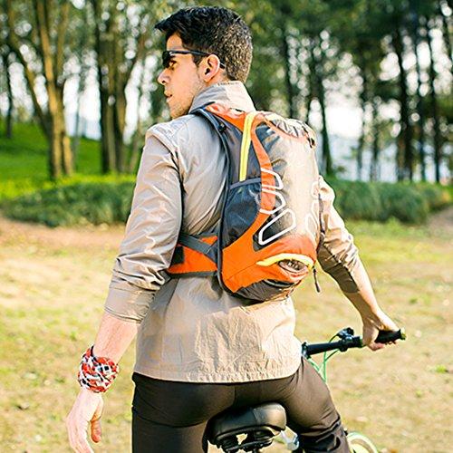 VIVOSUN 15L Wasserdicht Fahrradrucks?ck leicht Sportrucksack mit Trinksystem Reisetasche f¨¹r Radfahren Outdoor und Bergsteigen Damen/Herren Schwarz Rot