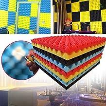 Forfar 1 PC 50x50x3cm Studio Acústico Insonorizar Panel de esponja de espuma Accesorios de absorción de sonido KTV Bar Inicio