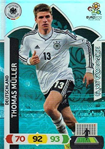 EURO 2012 Adrenalyn XL Fans Favourite Card - Thomas Muller [Toy]