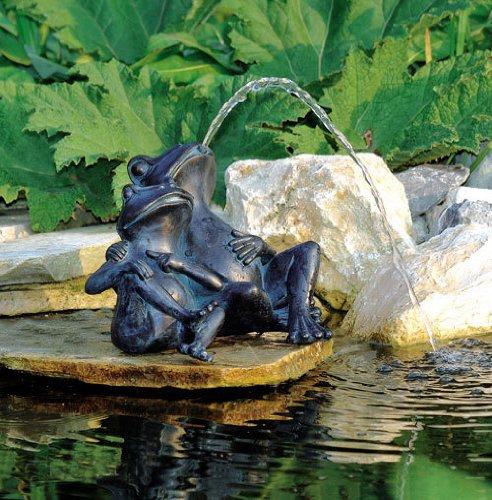 Wasserspeier 2 Frösche - Ø9-13 mm - H22 cm