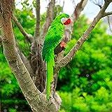 Papagei Vogel Statue Wellensittich Yard Tree Rasen Ornament hängen Skulptur Dekoration Garten Craft-20inch, B