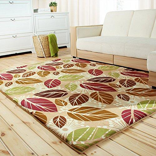 WWF Tappeto camera da letto con tappeto in corallo,Foglia di piume,1.2 *  1.6m