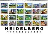 Heidelberg Fotocollagen (Wandkalender 2019 DIN A3 quer): Historische Orte in Heidelberg (Monatskalender, 14 Seiten ) (CALVENDO Orte) - Claus Liepke