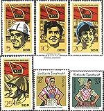Prophila Collection DDR 1675-1678,1723-1724 (kompl.Ausg.) 1971 Parteitag der SED, Trachten (Briefmarken für Sammler) Uniformen / Trachten