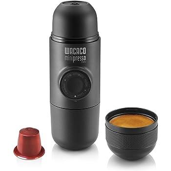 Wacaco Minipresso NS, caffettiera portatile da campeggio portatile a pistone macchina da caffè portatile compatibile con capsule CAPSULES * (Nespresso ** capsule e compatibili originali)
