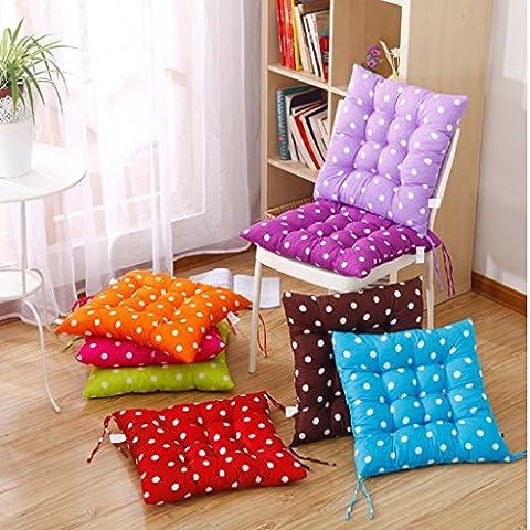 Generic Quadratisch 40 x 40cm Stoff Dekokissen Stuhlkissen Sitzkissen Stuhl Haus Deko - Helles Lila (Stühle Lila)