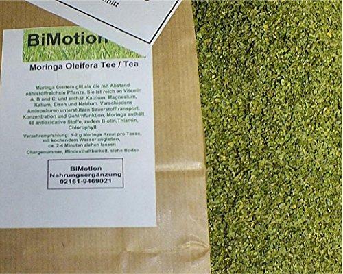 Moringa Oleifera Tee, 500g, Feinschnitt, geschnittene Blätter des Moringa Baumes