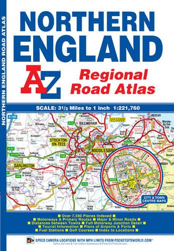 Northern England Regional Road Atlas (A-Z Regional for sale  Delivered anywhere in UK