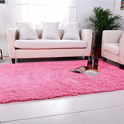 qwer Tappetini da bagno bagno assorbimento acqua piedini antiscivolo inquilini camera da letto soggiorno cucina porta office wc pad ,80*200cm,, rosa
