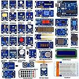 Adeept Ultimatives Sensoren-Set für Arduino UNO R3 Mega2560 Nano mit 42Modulen, Sensoren-Starterpaket für Arduino mit Handbuch in PDF-Form (evtl. nicht in deutscher Sprache)