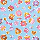Blauer bunter Donut Cupcake Süßigkeiten Oxfordstoff aus