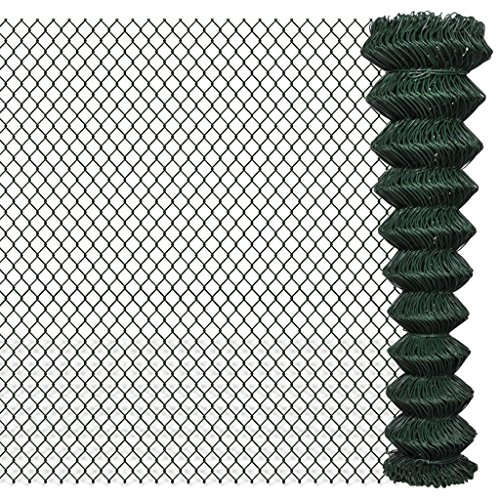 Zora Walter clôture clôture en grillage galvanisée 2 x 15 m Vert Clôture Jardin barrières extérieures clôture métallique accessoires clôture Kit Clôture extérieur