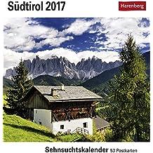 Südtirol - Kalender 2017: Sehnsuchtskalender, 53 Postkarten