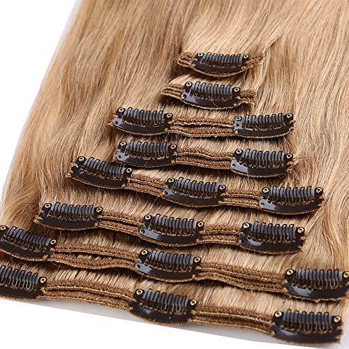 50cm extension capelli veri clip doppia tessitura double volume lunga 20