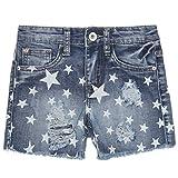 Mädchen Kurze Hose Bermuda Shorts Sommer Girl Capri Pump Pants Jeans 21275, Farbe:Blau;Größe:140