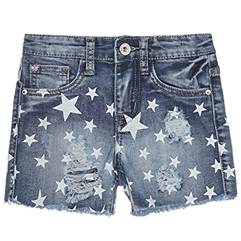 Mädchen Kurze Hose Bermuda Shorts Sommer Girl Capri Pump Pants Jeans 21275, Farbe:Blau;Größe:152