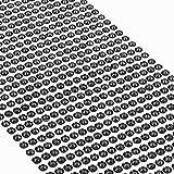 Movoja Schwarze Strasssteine - runde Glitzersteine 880 Stück 4 mm selbstklebend zum Verzieren und Basteln | Schmucksteine zum aufkleben | Steinchen Dekosteine Bastelsteine Schwarz