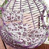 HXR Cuscino Cuscino per Sedia Moda Appeso Sedia Cuscino per Altalena Culla tappezzeria per Cuscini Cuscino per Divano Culla Sedia in Vimini, D_Individual