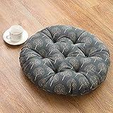XMZDDZ Tatami-matten Verdicken Sie Seat Dämpfung,Büro Boden Runde Stuhl Boden Pad Kissen Sitz Balkontür-E 40x40cm(16x16inch)