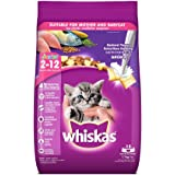 Whiskas Kitten (2-12 months) Dry Cat Food, Mackerel Flavour, 1.1kg Pack