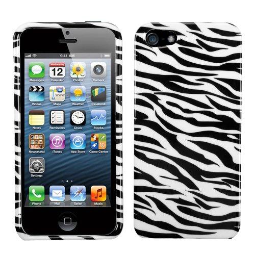 MYBAT Schutzhülle für iPhone 5, schlankes Design, 1 Stück, Zebra Skin -